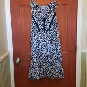 Maurice's Chiffon dress w/ Slip Navy Blue Size XL